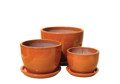 Picture of Round Pots w/ Saucers