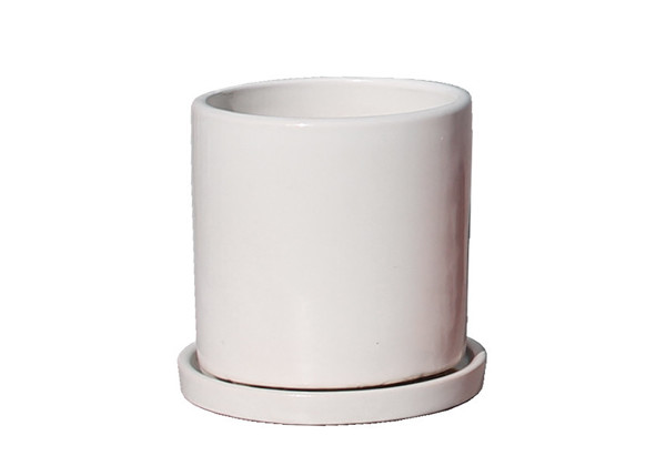 Picture of Small Cylinder Pot w/ Saucer
