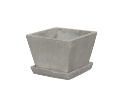 Picture of Tapered Square Pot w/ Saucer