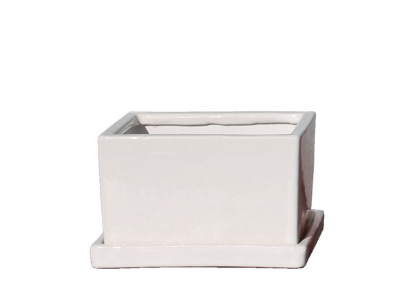 Picture of Rectangular Pot Small  w/ Saucer