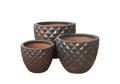 Picture of Round  Diamond Pattern Planters
