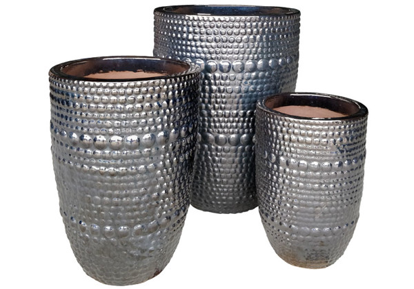 Picture of Tall Hobnail Design Planters